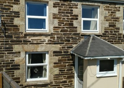 Tolwithen Cottages Cornwall. Coated with Masonry Creme.